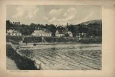 Brzeżany. Widok na staw, 1916 r.