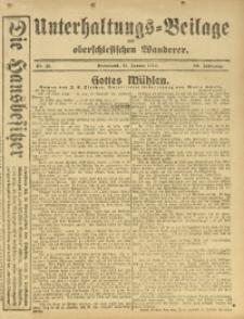Unterhaltungs-Beilage zum Oberschlesischen Wanderer, 1916, Jg. 89, Nr. 11