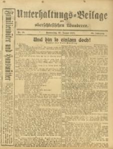 Unterhaltungs-Beilage zum Oberschlesischen Wanderer, 1916, Jg. 89, Nr. 15