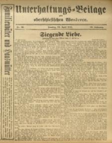 Unterhaltungs-Beilage zum Oberschlesischen Wanderer, 1916, Jg. 89, Nr. 98