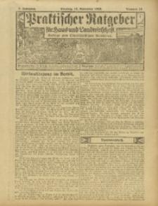Praktischer Ratgeber für Haus- und Landwirtschaft, 1916, Jg. 7, Nr. 13