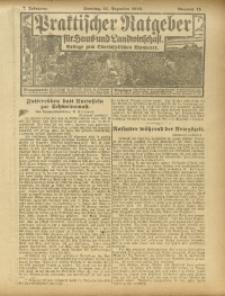 Praktischer Ratgeber für Haus- und Landwirtschaft, 1916, Jg. 7, Nr. 15