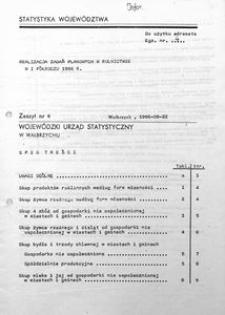 Realizacja zadań planowych w rolnictwie w I półroczu 1986 r.