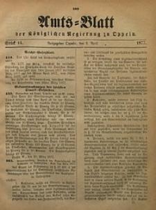 Amts-Blatt der Königlichen Regierung zu Oppeln, 1877, Bd. 62, St. 14