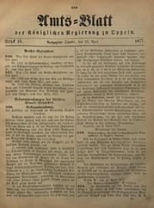 Amts-Blatt der Königlichen Regierung zu Oppeln, 1877, Bd. 62, St. 16