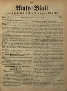 Amts-Blatt der Königlichen Regierung zu Oppeln, 1877, Bd. 62, St. 25