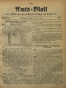 Amts-Blatt der Königlichen Regierung zu Oppeln, 1877, Bd. 62, St. 30