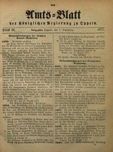 Amts-Blatt der Königlichen Regierung zu Oppeln, 1877, Bd. 62, St. 36