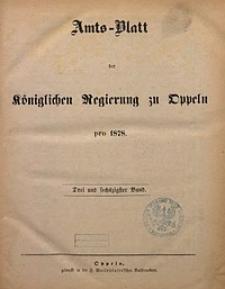 Chronologisches Verzeichniß der Bekanntmachungen, welche in den im Jahre 1877 ausgegebenen Amtsblättern der Königlichen Regierung zu Oppeln erschienenen sind