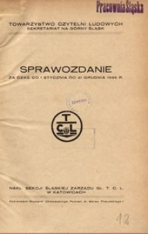 Towarzystwo Czytelni Ludowych. Sekretariat na Górny Śląsk. Sprawozdanie za czas od 1 stycznia do 31 grudnia 1936 r.