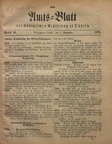 Amts-Blatt der Königlichen Regierung zu Oppeln, 1878, Bd. 63, St. 36