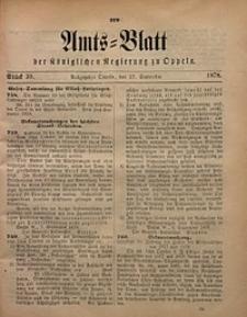 Amts-Blatt der Königlichen Regierung zu Oppeln, 1878, Bd. 63, St. 39