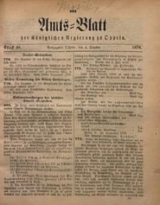 Amts-Blatt der Königlichen Regierung zu Oppeln, 1878, Bd. 63, St. 40