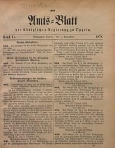 Amts-Blatt der Königlichen Regierung zu Oppeln, 1878, Bd. 63, St. 44