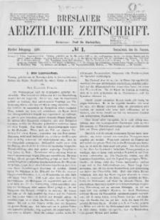 Breslauer Aerztliche Zeitschrift, 1883, Jg. 5, No. 1