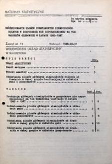 Zróżnicowanie plonów podstawowych ziemiopłodów rolnych w gospodarce nie uspołecznionej na tle warunków glebowych w latach 1985-1987