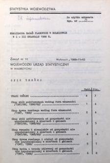 Realizacja zadań planowych w rolnictwie w I-III kwartale 1988 r.