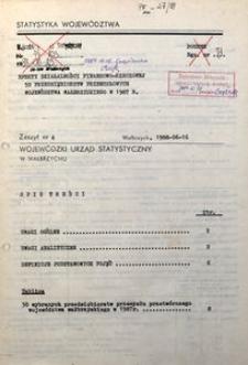 Efekty działalności finansowo-rzeczowej 50 przedsiębiorstw przemysłowych województwa wałbrzyskiego w 1987 r.