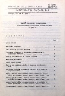 Jakość produkcji przemysłowej przedsiębiorstw gospodarki uspołecznionej w 1987 roku