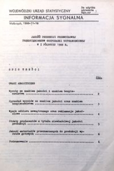 Jakość produkcji przemysłowej przedsiębiorstw gospodarki uspołecznionej w I półroczu 1988 r.