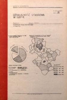 Działalność usługowa w 1987 r.