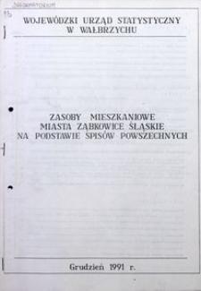 Zasoby mieszkaniowe miasta Ząbkowice Śląskie na podstawie spisów powszechnych