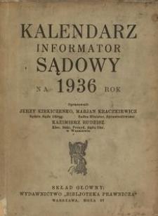 Kalendarz Sądowy na 1936 rok