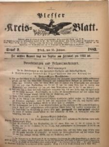 Plesser Kreis-Blatt, 1883, St. 2