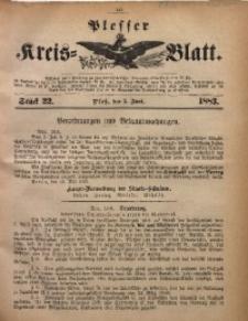 Plesser Kreis-Blatt, 1883, St. 22
