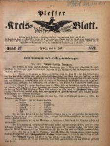 Plesser Kreis-Blatt, 1883, St. 27
