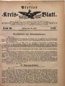 Plesser Kreis-Blatt, 1883, St. 29
