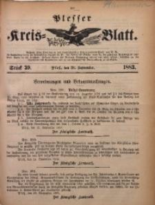 Plesser Kreis-Blatt, 1883, St. 39