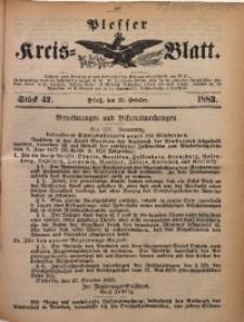 Plesser Kreis-Blatt, 1883, St. 42
