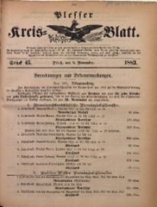 Plesser Kreis-Blatt, 1883, St. 45