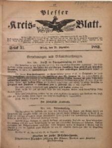 Plesser Kreis-Blatt, 1883, St. 51