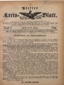 Plesser Kreis-Blatt, 1884, St. 4