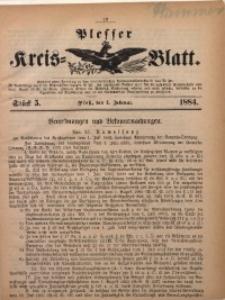 Plesser Kreis-Blatt, 1884, St. 5