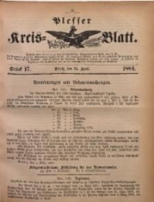 Plesser Kreis-Blatt, 1884, St. 17