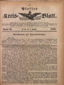 Plesser Kreis-Blatt, 1884, St. 31