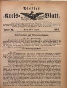 Plesser Kreis-Blatt, 1884, St. 32