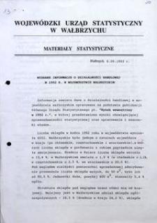 Wybrane informacje o działalności handlowej w 1992 r. w województwie wałbrzyskim