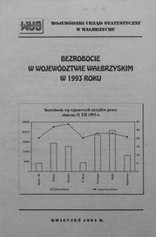 Bezrobocie w województwie wałbrzyskim w 1993 roku