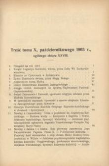 Dzwonek Częstochowski : pismo miesięczne, illustrowane. 1903, R.3, T.10(28) - październik