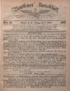 Beuthner Kreisblatt, 1865, Nro. 14
