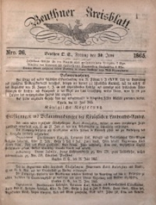 Beuthner Kreisblatt, 1865, Nro. 26