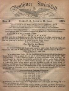 Beuthner Kreisblatt, 1864, Nro. 4