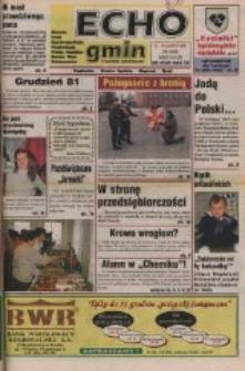 Echo Gmin : tygodnik regionalny : Bierawa, Cisek, Kędzierzyn-Koźle, Pawłowiczki, Polska Cerekiew, Reńska Wieś, Zdzieszowice 1998, nr 49 (66).