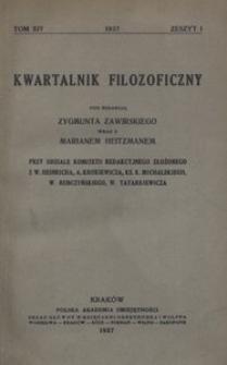 Kwartalnik Filozoficzny. R 14 (1937)