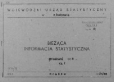 Bieżąca informacja statystyczna. Grudzień 1964, cz. I