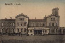 Głubczyce. Dworzec kolejowy. Przed 1918 r.
